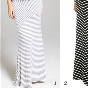 Maxi skirt LIKE NEW Gray & White Stripe